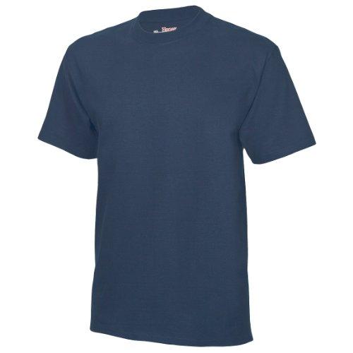 Hanes Herren T-Shirt Tagless Beefy (3XLarge) (Marineblau)