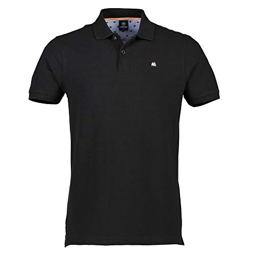 LERROS Herren Regular Fit Poloshirt Polo 2003200, Einfarbig, Gr. XXX-Large, Schwarz (black 290)
