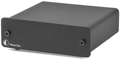 Pro-Ject Phono Box Vorverstärker MC-/MM-Tonabnehmern, Hartvergoldete RCA/Cinch-Buchsen schwarz