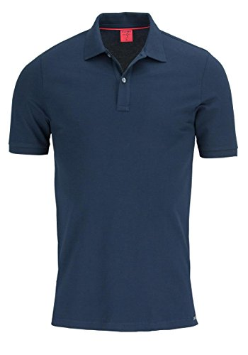 OLYMP Poloshirt Einfarbig ohne Brusttasche 7500/12 Polo+Sweat- Gr. L, Nachtblau