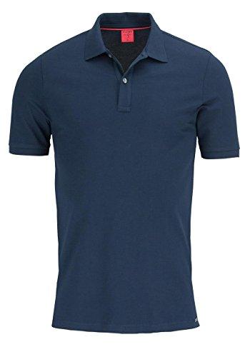 Olymp Poloshirt marine, Einfarbig 96% Baumwolle / 4% XLA ohne Brusttasche, Größe XL