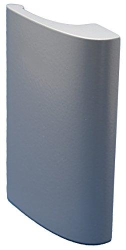 CC-Shopping - Griff LUXURY - aus Aluminium inkl. 2 Montageschrauben - SILBER (Silber)