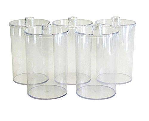Grafco 3453 Plastic Sundry Jars, Clear, Unlabled