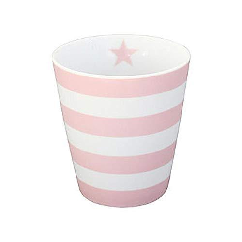Krasilnikoff Kaffee Becher/Tasse/Mug - Stripes pink/rosa