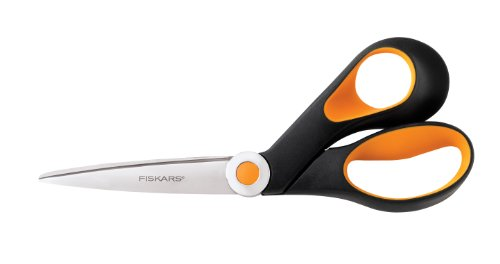 Fiskars 175800-1002 Razor-edge Softgrip Scissors, 8 Inch, Black