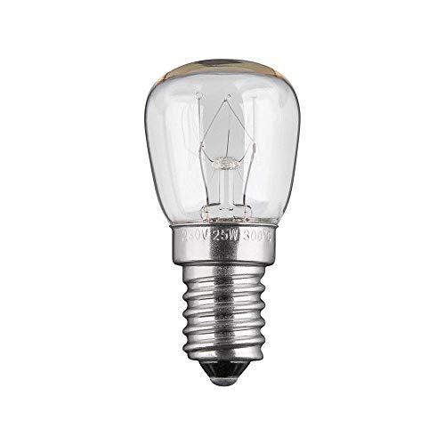 Goobay 9741 Backofenlampe 25 Watt Wolfram Glühlampe mit E14 Sockel für Backofenlicht, Nennlichtstrom 110 lm, Bis 300°C Hitzebeständiges warmweißes Licht