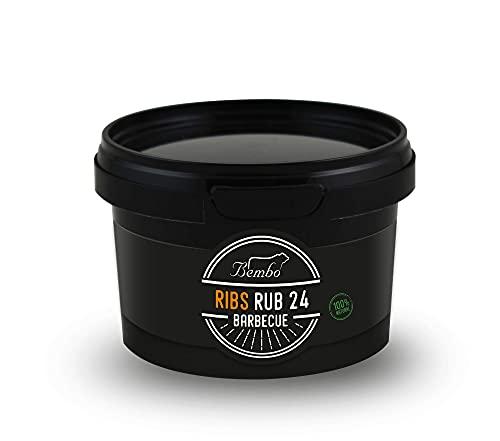 Ribs - BBQ Rub 24 - Miscele di Spezie per Barbecue e Marinatura - Bembo Barbecue (220g)