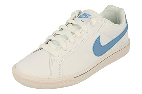 Nike Mujeres Court Majestic Running Trainers 454256 Sneakers Zapatos (UK 6.5 US 9 EU 40.5, White Light Blue Total Orange 111)