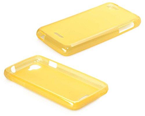 caseroxx TPU-Hülle für Wiko Kite, Handy Hülle Tasche (TPU-Hülle in gelb)