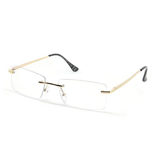 SY SEEYOU - Gafas de sol de cristal transparente, multicolor, rectangulares transparente M