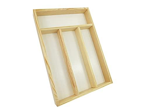 Bandeja Para Cubiertos/ Organizador de Cubierto de Madera/ Organizador de Cubertería/ Tabla Para Guardar Cubiertos Madera 32cm x 22cm x 4cm