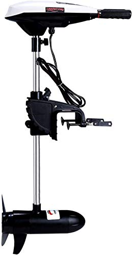 LEADALLWAY Electric Trolling Motor & Mounting Kit 12v 65 LBS Thrust Transom Mounted, Variable Speed