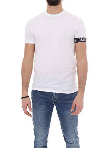 DSQUARED2 D9M3S3450 T-Shirt Manica Corta Uomo Bianco M