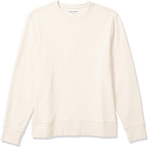 Amazon Essentials Men's Long-Sleeve Lightweight French Terry Crewneck Sweatshirt, Off-White, X-Large