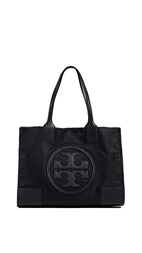 Tory Burch Women's New Ella Mini Tote, Black, One Size