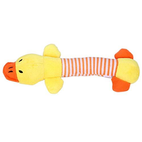 Pet Dog Cat Funny Fleece Plush Dog Toy Squeak Chew Sound Toy Pig Plush Toys,Yellow