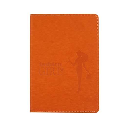 unknows Cuaderno Marginf, A5 Cuaderno de Cuero PU Diario Bloc de Notas Cuaderno de bocetos Planificador de Diario de Negocios Agenda Organizador Cuaderno de Notas Material Escolar