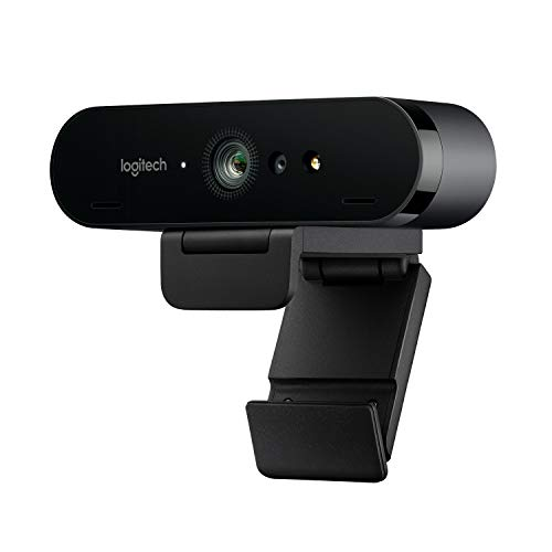 Logitech BRIO Webcam Ultra HD 4K 30/60 fps per Streaming, Videoconferenze e Registrazione per Windows e Mac, Home, Nero