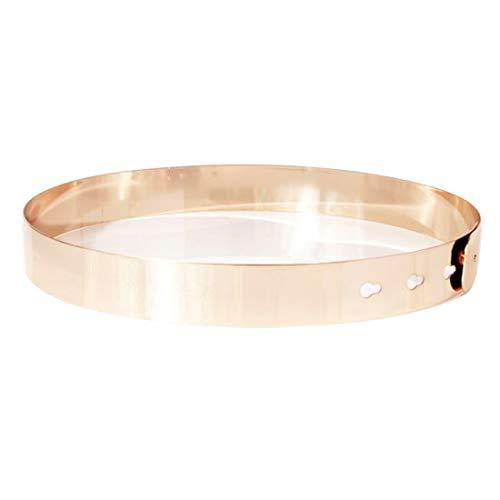 TonKin Mujer Cinturón de cintura de metal Vestido Cinturón Flaco Cinturones elásticos para los Vestidos Cintura Decorativa