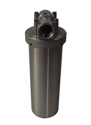 INTBUYING Heavy Duty Water Filter Housing Whole House Water Purification of 304 Stainless Steel -10 inch Filter1 inch NPT