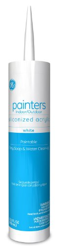 General Electric GE14449 Painters Siliconized Acrylic Caulk, 10.1-Ounce, White