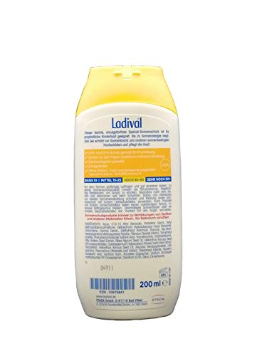 LADIVAL Kinder allergische Haut Gel LSF 30 200 ml