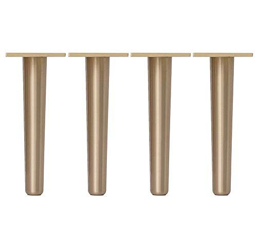 YXB Meubilair voetmeubels voeten* 4, massief messing bank salontafel TV kast anti-oxidatie metalen steunpoten, geschikt voor bed, kast, tafel en andere meubels voeten