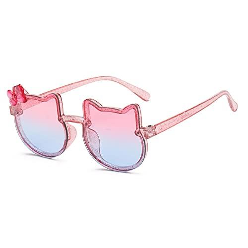Gafas De Sol Gafas De Sol con Forma De Mariposa, Gato, Azul, Rosa, Gafas para Niñas, Lentes Bonitos, Lentes De Colores, Tonos para Niños, Tendencias De Moda C04