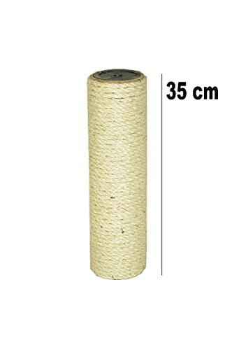 nanook Sisalstamm Ersatzstamm für Kratzbäume - Ø 8,5 cm, Gewinde M10 - mit beidseitigem Innengewinde - Länge 35 cm