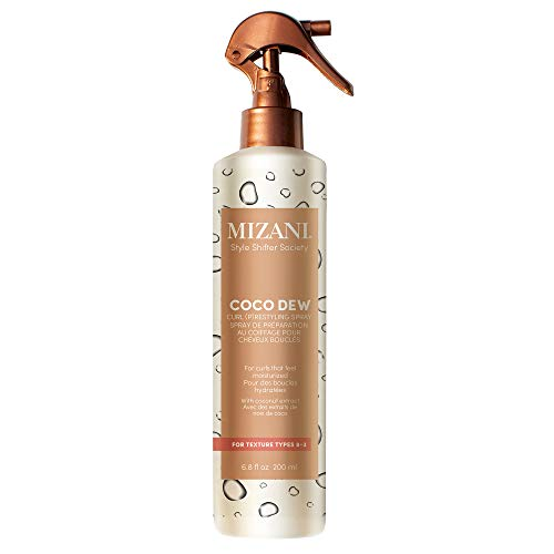 MIZANI Style Shifter Society Coco Dew Curl (P)Restyling Spray, 2-in-1 Moisturizing Styling Spray, for Textured, Curly and Coily Hair, 6.7 Fl Oz