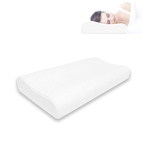 Memory Foam Pillow, Somniferous Ergonomic and Orthopedic Bed Pillow, Cervical Pillows for Neck, Shoulder Pain,Back Stomach Side Sleeper with Washable Breathable Cover (23.62 x 13.77 inch)