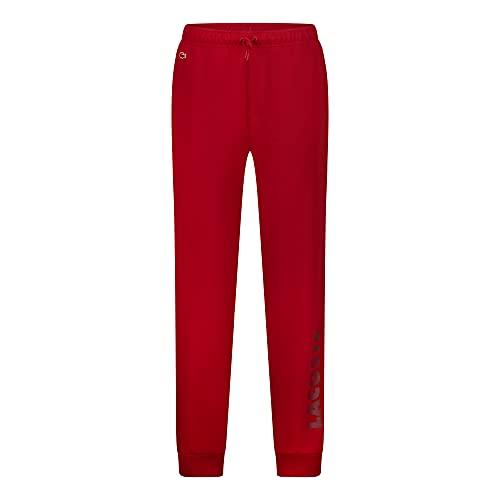 Lacoste Herren 3H7459 Pyjamahose, Männer Pyjama-Unterteil,Schlafanzughose,Jogginghose,Sweatpants,Loungewear,Rot,XXL