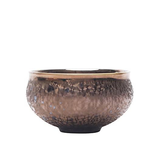 Liuying Horno cambiado Tianmu Glaze para construir una taza de té, Colorido pavo real Glaze Kungfu Tea Set, Taza de té de cerámica, Taza de té de una sola taza, Moda de gama alta