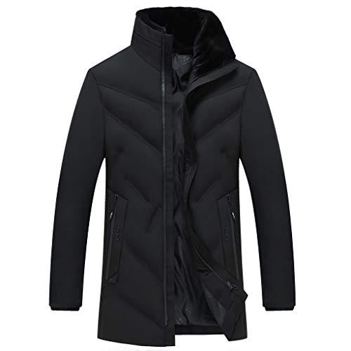 Herenjack, lange mouwen, CIELLTE, winterjas, jas, capuchon, parka voor heren, winter, warm, mantel voor heren, zwart