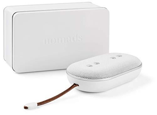Nomads Audio BRINGone, compacte draadloze bluetooth speaker, waterbestendige draadloos speaker (Batterijduur tot 12 uur, Bluetooth 4.2, Waterbestendigheid IPX5, Bluetooth, AUX, Handsfree bellen, oplaadtijd 2,5 uur, inclusief reistas) - Wit