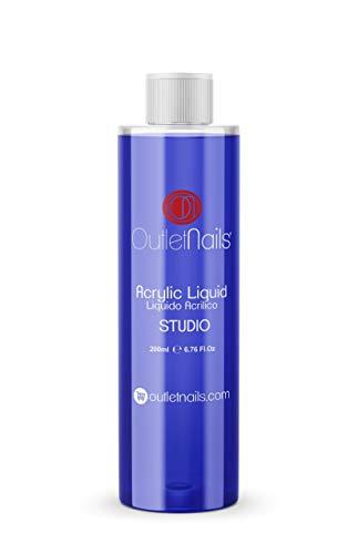 Liquido Acrilico 200ml ideal para Principiantes | Monomero para uñas acrílicas | Secado Lento - medio ideal para Principiantes