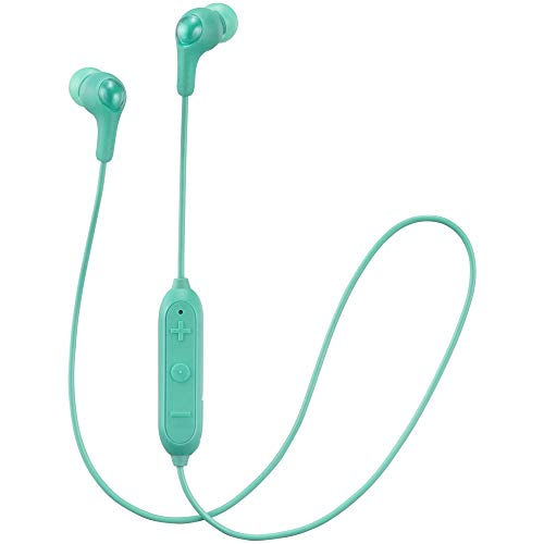 JVC Gumy Plus Kabellose Bluetooth-In-Ear-Kopfhörer mit Bassverstärkung, komfortable Ohrhörer und eingebautem Mikrofon und Fernbedienung für Anrufbehandlung, Grün