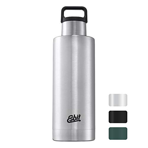 Esbit Isolierflasche Sculptor Standard Mouth, Edelstahl Recipientes termicos, 1 Liter, Acero Inoxidable, Plata