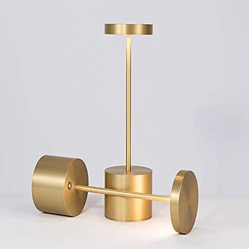 CHENXTT Lámpara de mesa de carga inalámbrica lámpara de mesa moderna mesa de comedor bar creativa lámpara de mesa decorativa LED dorada 9,1 x 33,7 pulgadas