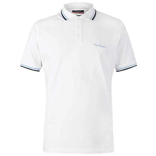 Pierre Cardin Herren-Poloshirt mit Kipp-Kragen, kurzärmeliges Shirt, Oberteil Gr. M, weiß
