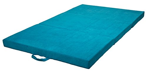 Velinda Klappmatratze Faltmatratze Gästebett Campingmatratze Reisematratze 120x200x10cm (Farbe: blau)