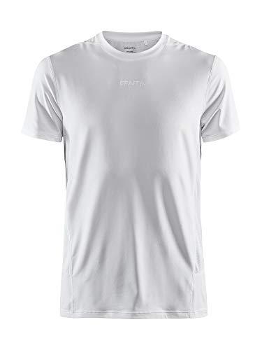 Craft ADV Essence SS tee Camiseta para Hombre, Color Blanco, M
