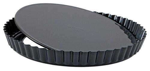 Staedter Moule à Tarte avec Fond Amovible, Noir, 28 cm
