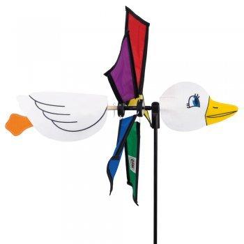 CIM Windspiel - ENTE EMMA - Windrad: Ø32cm, Motiv: 36cm, Gesamthöhe: 100cm - UV-beständig und wetterfest - inkl. Standstab