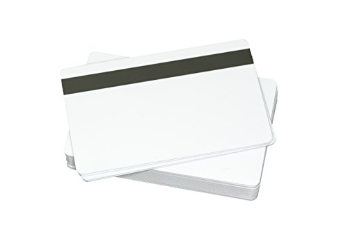 "100 CR80 30Mil Blank White PVC Plastic Credit/Gift/Photo ID Badge Cards with 5/16"" HiCo Magnetic Stripe"