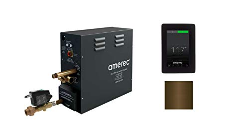 Amazing Deal Amerec AX 4.5 KW Steam Bath Generator with Elite Touch Screen Control - Steam Head and ...