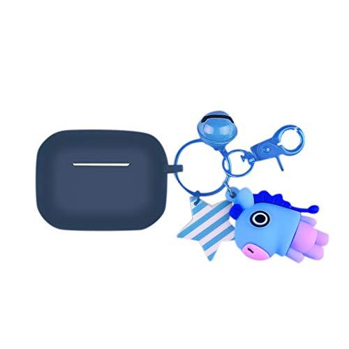 Wivarra Adecuado para Pro Auricular Funda Protectora Mu?Eca de Dibujos Animados Colgante Estuche para Auriculares Azul