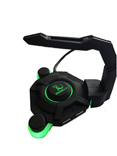 Krazilla KZM-HB30 Gaming Mouse cord holder Bungee with USB HUB