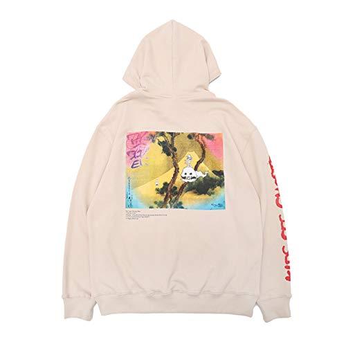 cpfm.xyz Kanye Kid Cudi Kids See Ghosts Hoodies Hip Hop Rapper - Sudadera con capucha albaricoque S