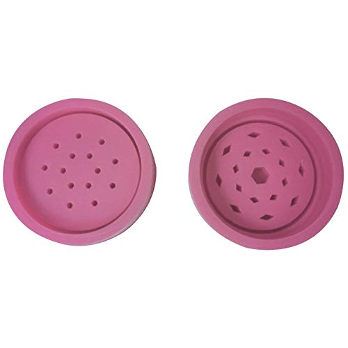 Tobacco Grinder Silicone Mold Leaf Herbal Herb Smoke Spice Crusher Silicone Mould Grinder Crystal Epoxy Herb Smoke Spice Crusher (Pink)